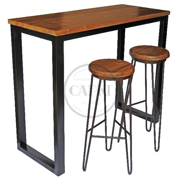 Mesa desayunador industrial muebles estilo industrial for Mesa desayunador