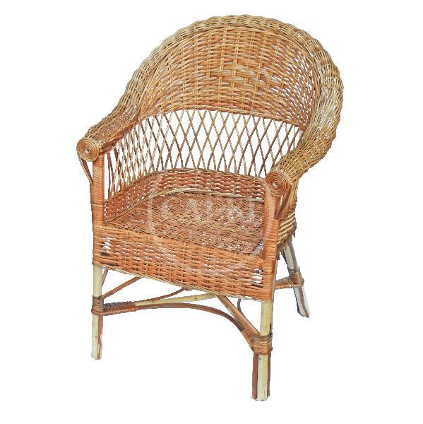 Sillon individual butaca rulo muebles de mimbre y ca a for Butaca sillon individual