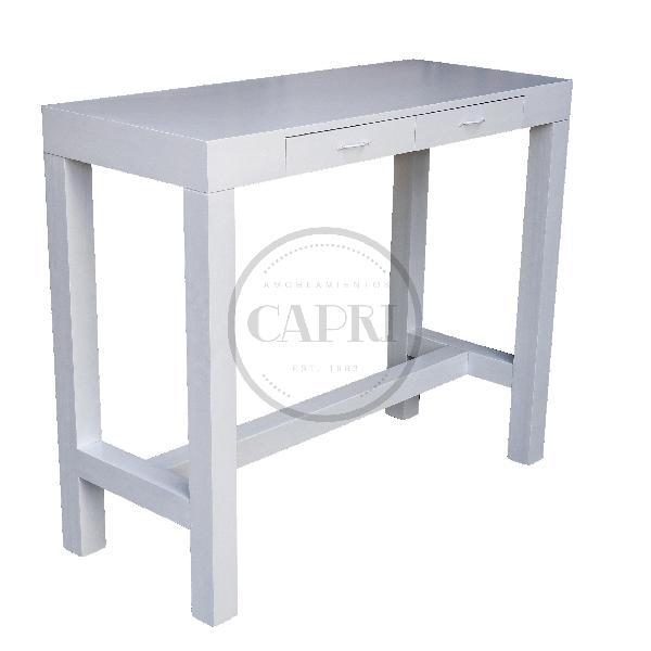 Mesa Desayunador Asia 120x50 Laqueado Blanco Muebles