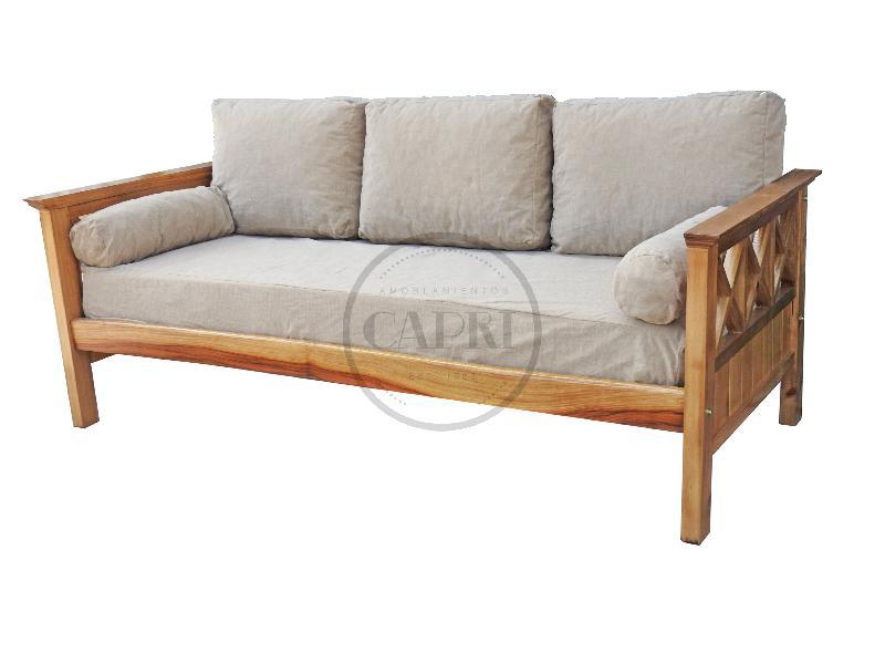Sofa cama 1 plaza lustre chenille muebles estilo campo for Sofa cama 1 plaza