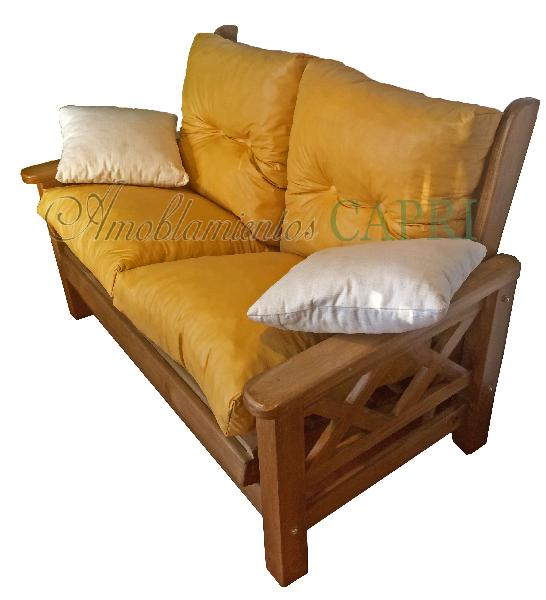 Sill n doble reclinable cruz cera cuerina muebles estilo for Sillon reclinable doble