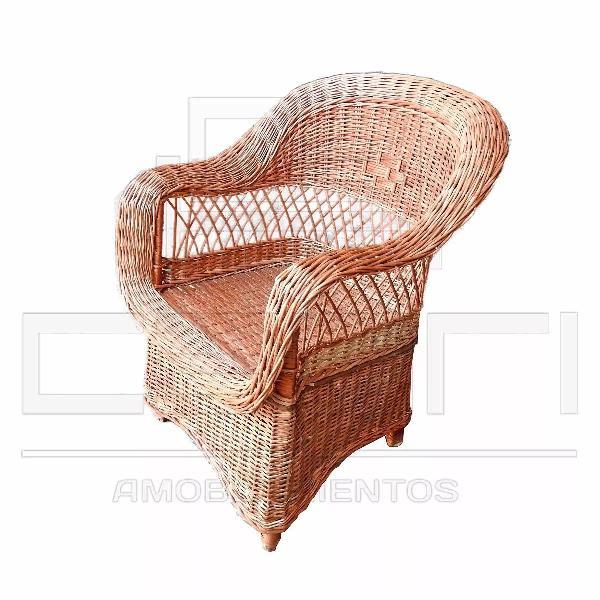 Sillon individual butaca con pollera muebles de mimbre y for Butaca sillon individual