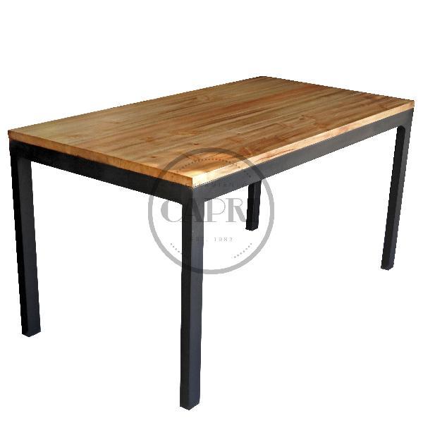 Mesa industrial 140x80 muebles estilo industrial amoblamientos capri - Mesa madera industrial ...